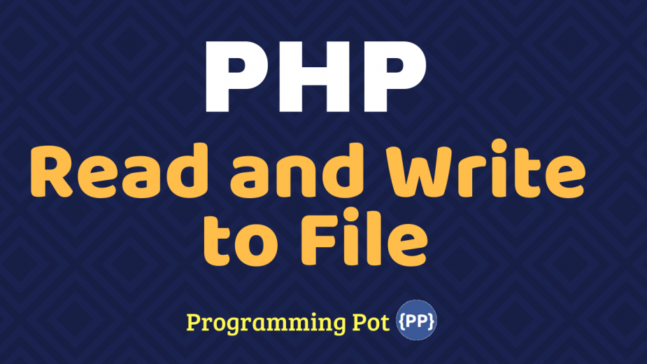 PHP Read and Write to File