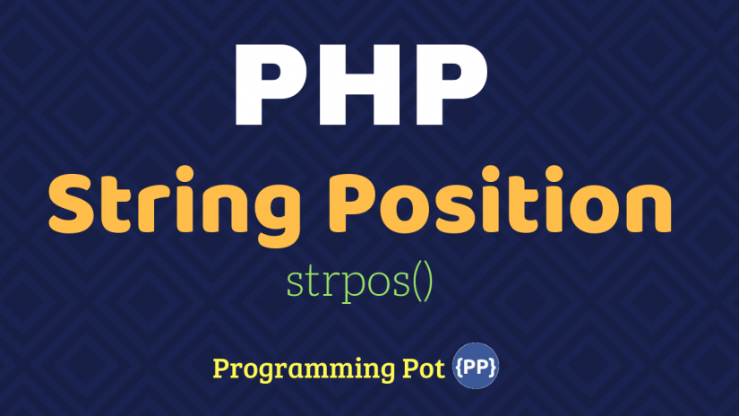 PHP String Position