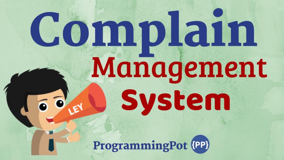 Complain Management System in Laravel