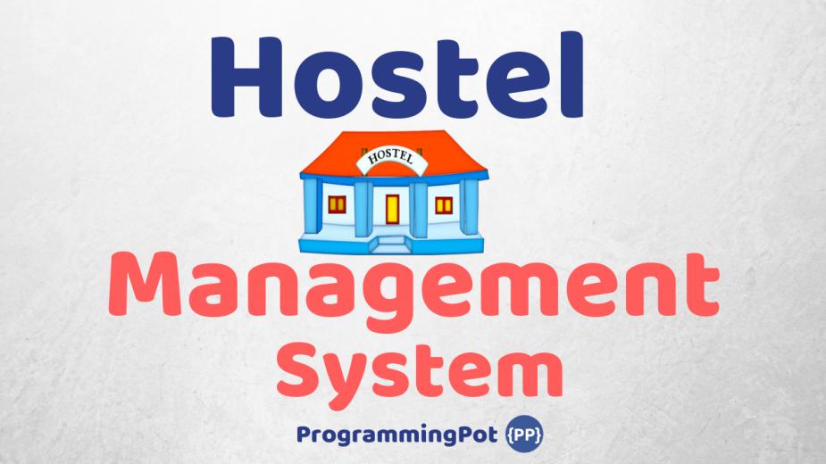 Hostel Management System in Laravel